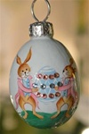 Miniature Egg: Courtly Rabbits