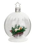 Baby Jesus Glass Ball, Transparent, White