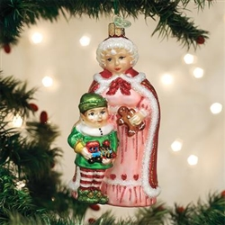 Mrs. Claus with Elf