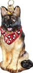 German Shepherd with Bandana