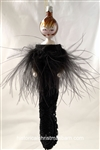 Lady/Black Dress Feather Top