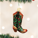 Holly Berry Cowboy Boot