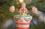 Sculpture for Winter Cornucopia/Mrs. Claus; Stripes & Dots