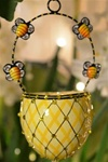 Spring Basket/Yellow Bees