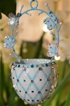 Spring Basket/Turquois and Butterflies