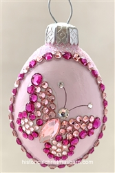 Jeweled Butterfly Egg, Pink