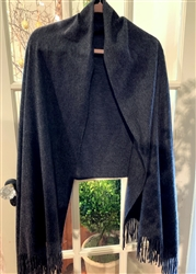 Charcoal Cashmere Travel Wrap