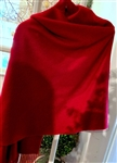 Red Cashmere Travel Wrap