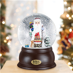 Fanciful Santa Snow Globe