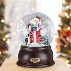 Santa With Penguin Pals Snow Globe